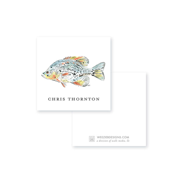 Watercolor Fish II Calling Card