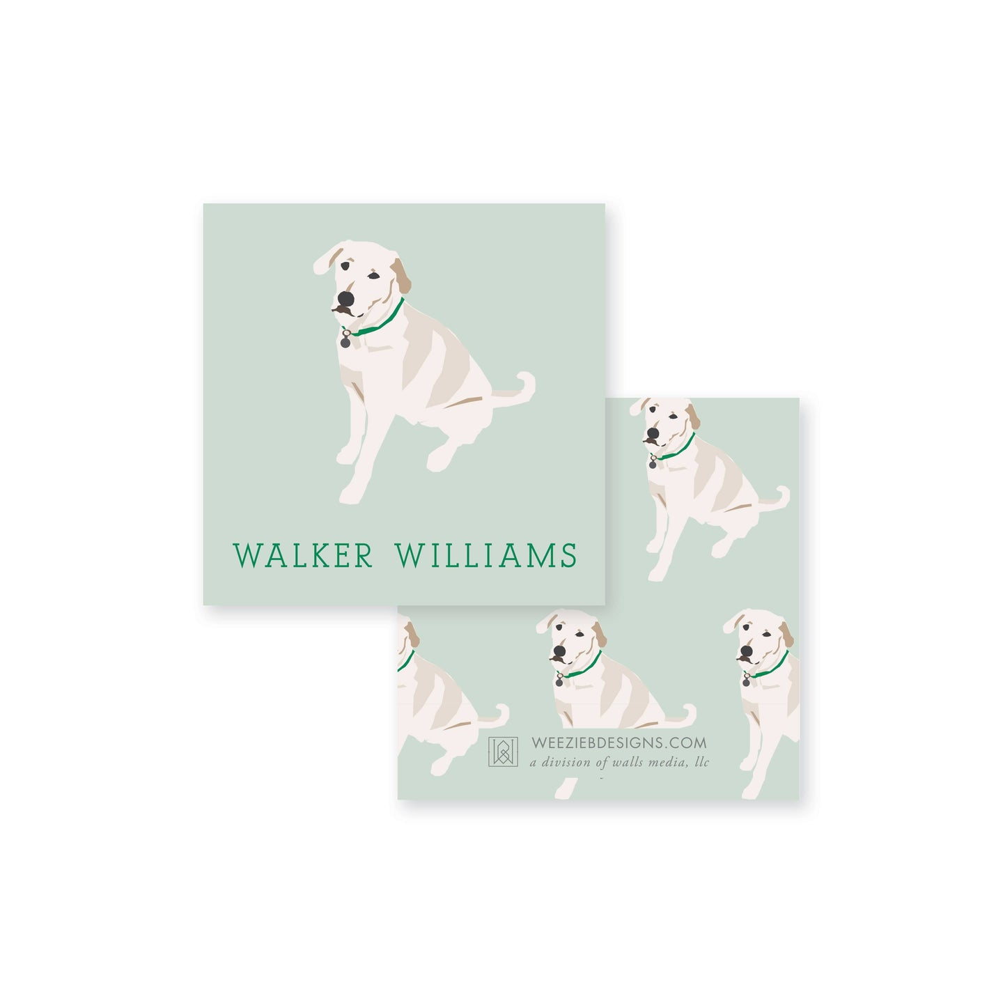 Weezie B. Designs | White Lab Calling Cards
