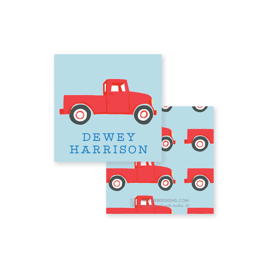 Weezie B. Designs | Old Red Truck Calling Card