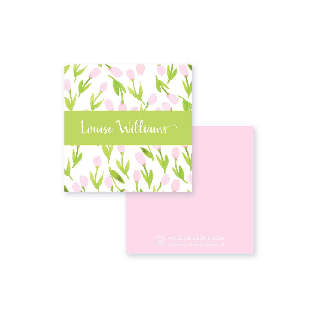 Weezie B. Designs | Garden of Tulips Calling Card
