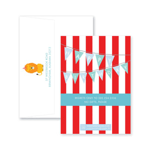 Weezie B. Designs | Circus Birthday Invitation