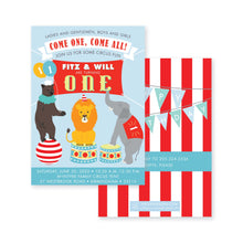 Load image into Gallery viewer, Weezie B. Designs | Circus Birthday Invitation