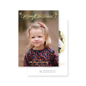 Weezie B. Designs | Classic Merry Christmas Christmas Card