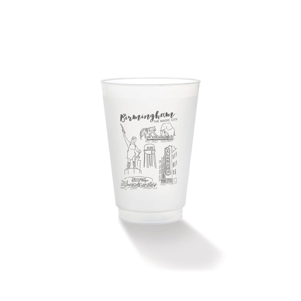 Weezie B. Designs | Magic City Sketch Frosted Cups