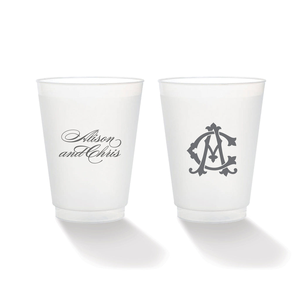 Weezie B. Designs | Two-Letter Intertwine Frosted Cups