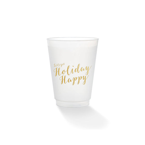 Weezie B. Designs | Holiday Happy Frosted Cups