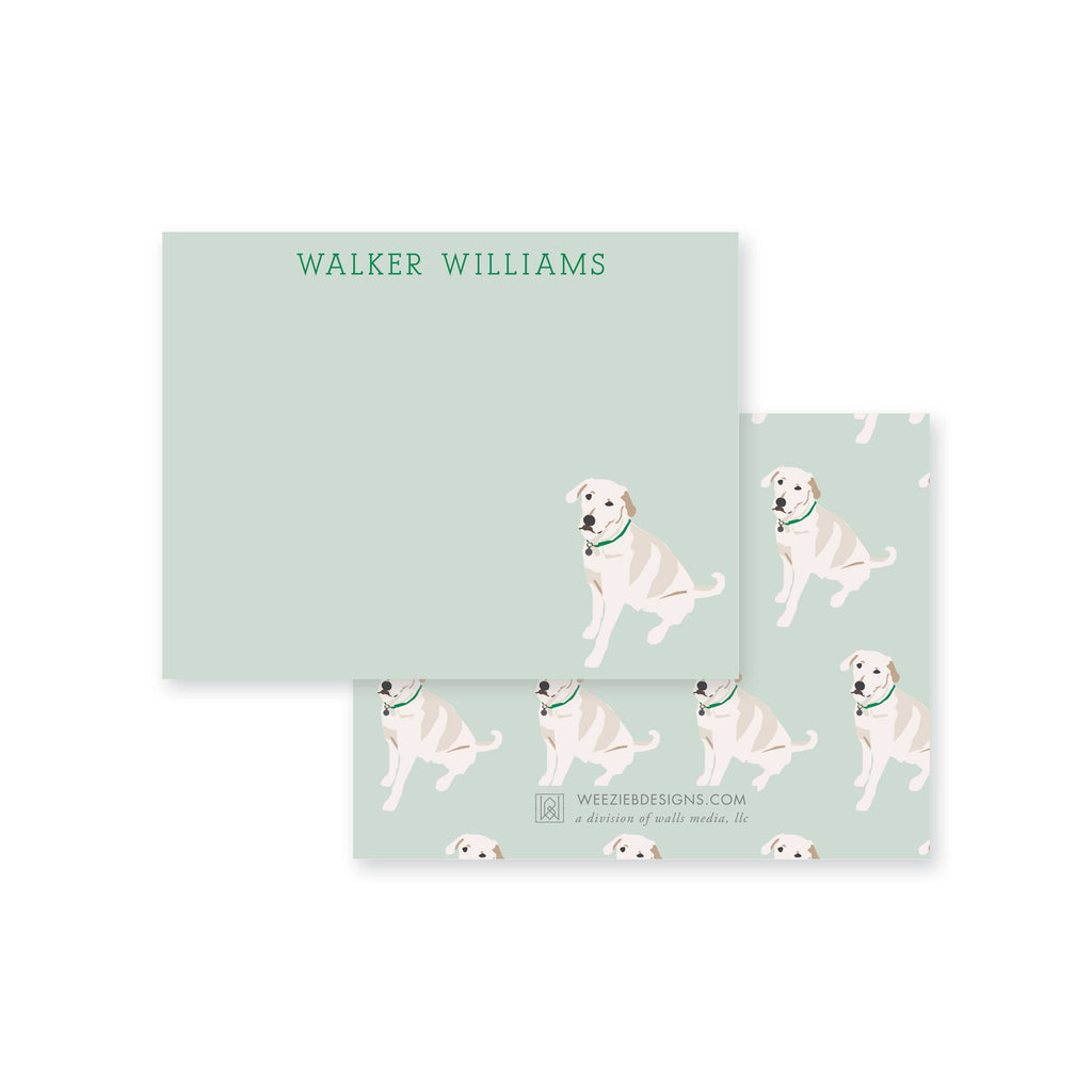 Weezie B. Designs | White Lab Flat Note Cards