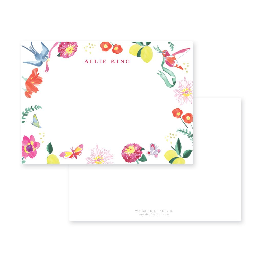 Butterfly Garden Flat Note Card
