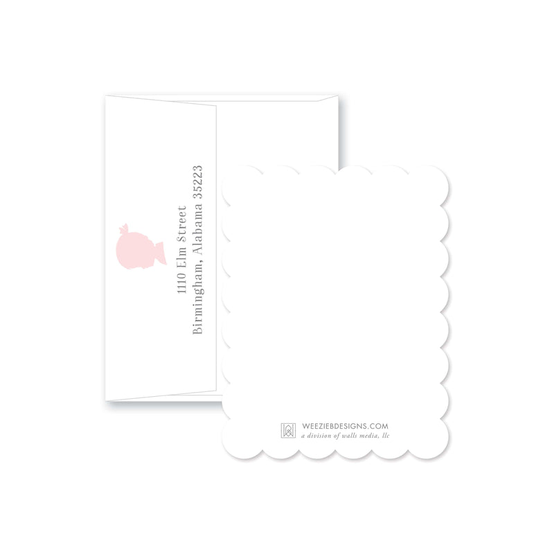 Weezie B. Designs | Sweet Silhouette Personalized Flat Note Cards