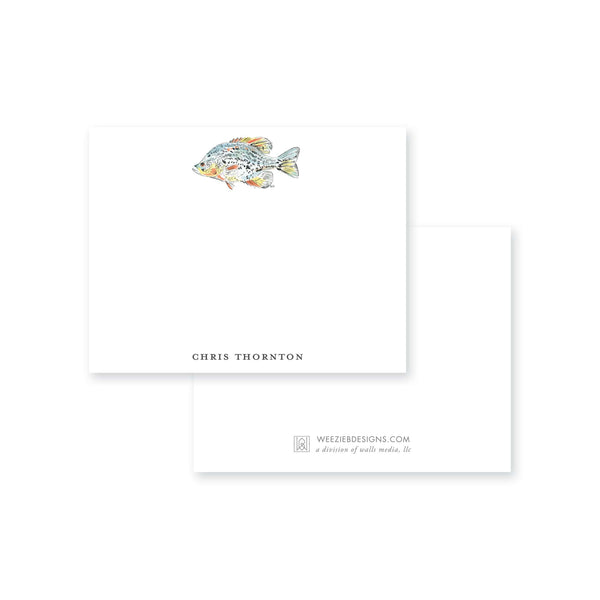 Watercolor Fish Flat Note Card