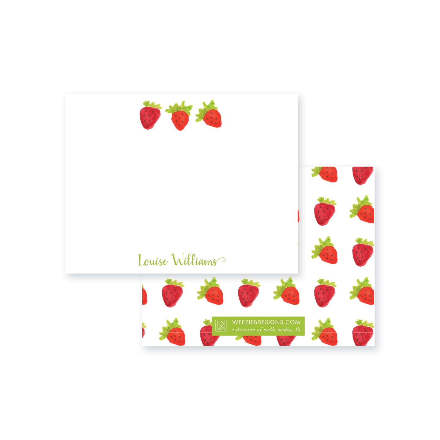 Summer Strawberry Flat Note Card
