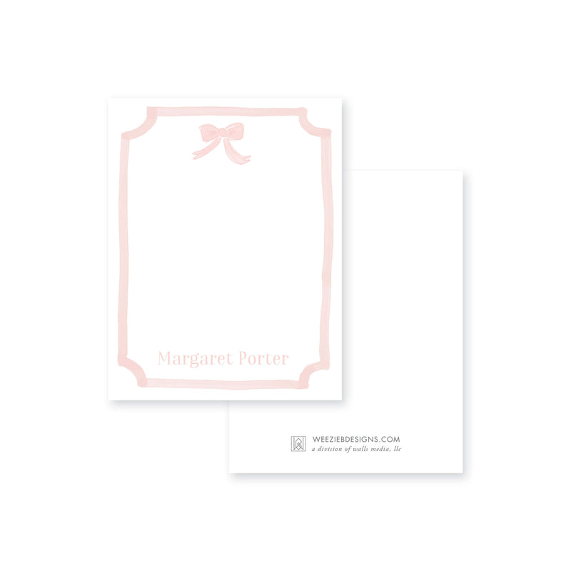 Weezie B. Designs | Watercolor Bow Notecard