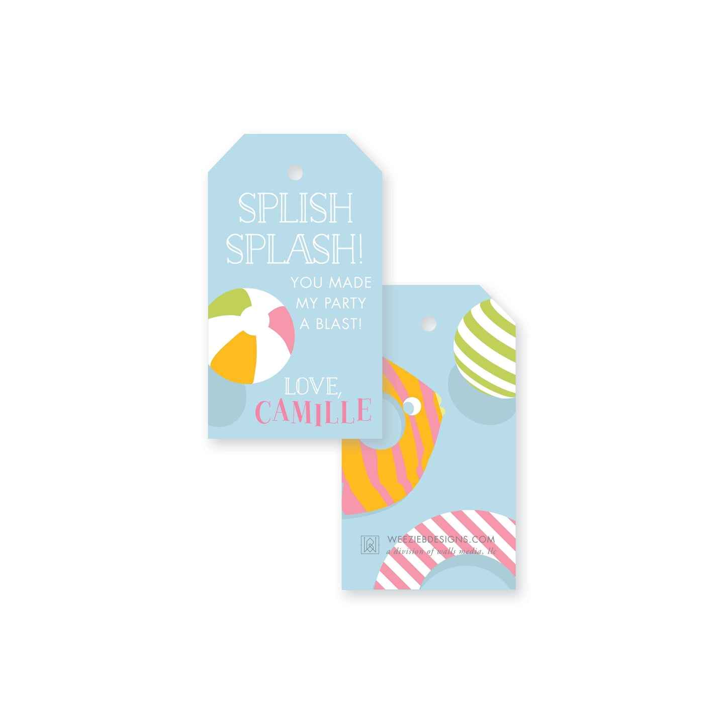 Float on Over Gift Tag