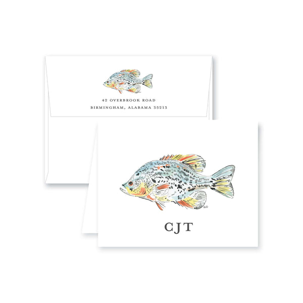 Watercolor Fish Folded Note Card