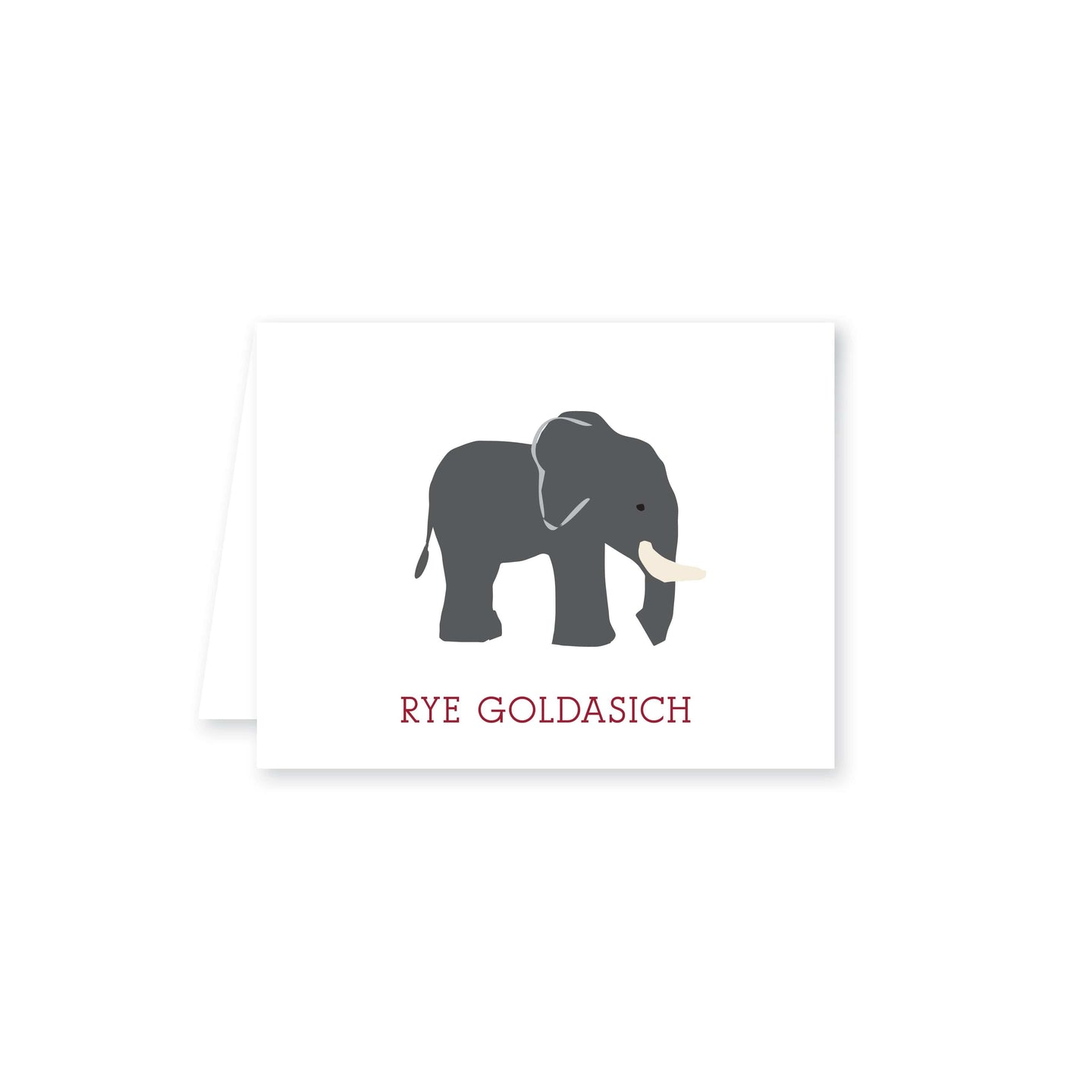 Weezie B. Designs | Sweet Elephant Folded Note Card