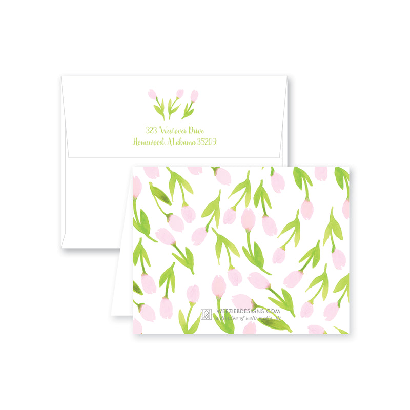 Weezie B. Designs | Garden of Tulips Folded Note Card