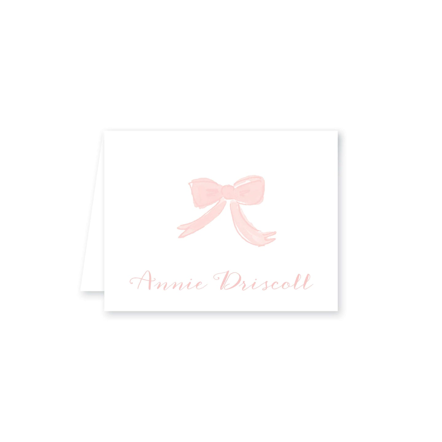 Weezie B. Designs | Watercolor Bow Personalized Folded Note Card
