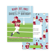 Load image into Gallery viewer, Weezie B. Designs | Football & Cheer Birthday Party Invitations