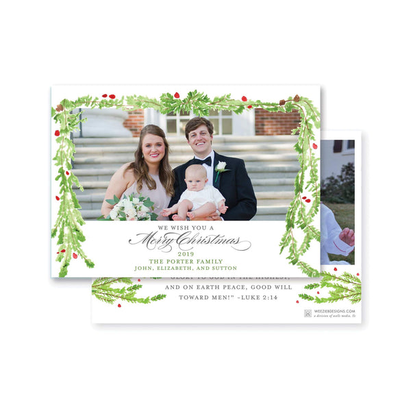Watercolor Evergreen Garland
