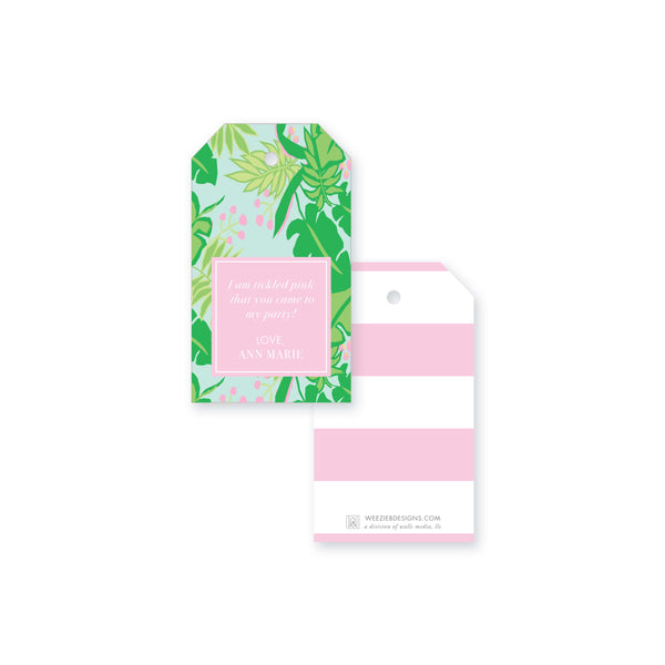 Weezie B. Designs | Bright & Tropical Gift Tag