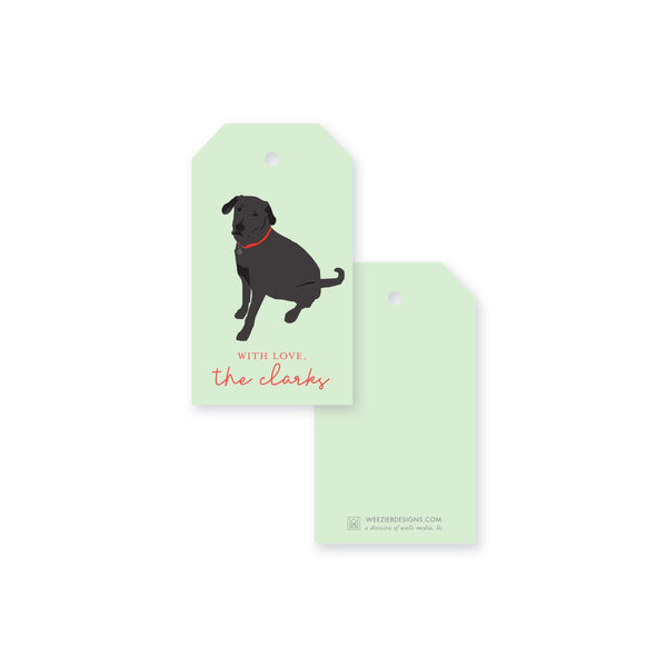 Weezie B. Designs | Black Lab Gift Tag