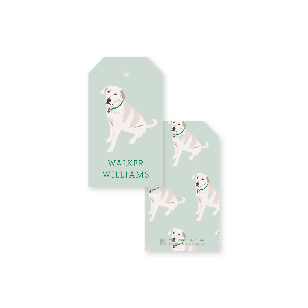 Weezie B. Designs | White Lab Gift Tag