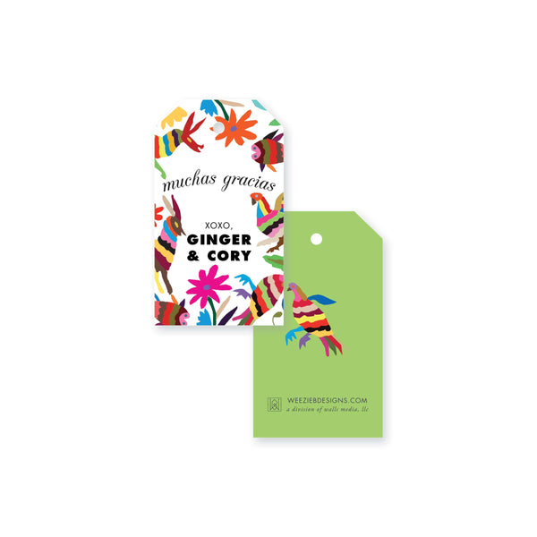 Otomi Fiesta Gift Tag