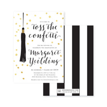 Load image into Gallery viewer, Weezie B. Designs | Graduation Invitation | Toss the Confetti