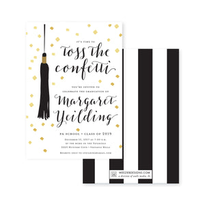 Weezie B. Designs | Graduation Invitation | Toss the Confetti