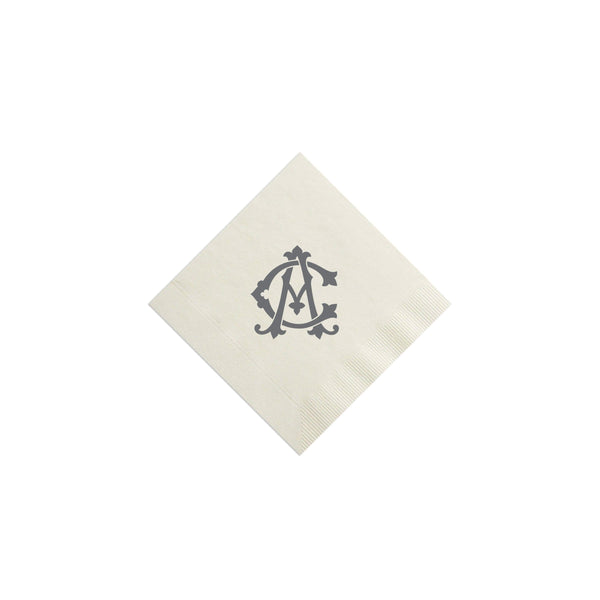 Weezie B. Designs | Two-Letter Intertwine Cocktail Napkins