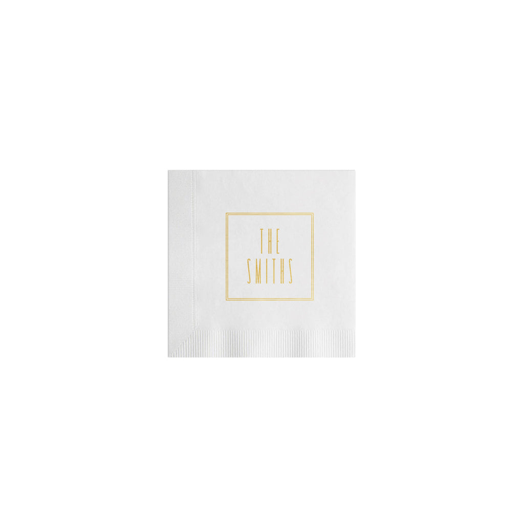 Weezie B. Designs | Simple Double Border Cocktail Napkins