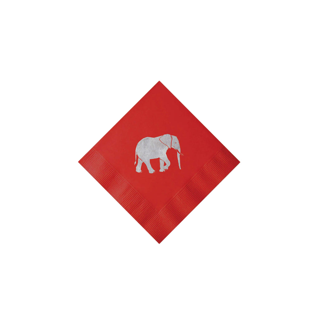 Weezie B. Designs | Elephant Cocktail Napkin