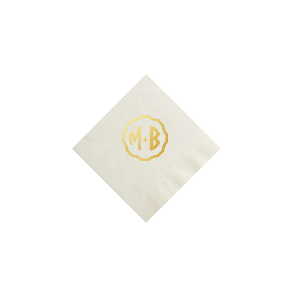 Great Gatsby Monogram Napkins