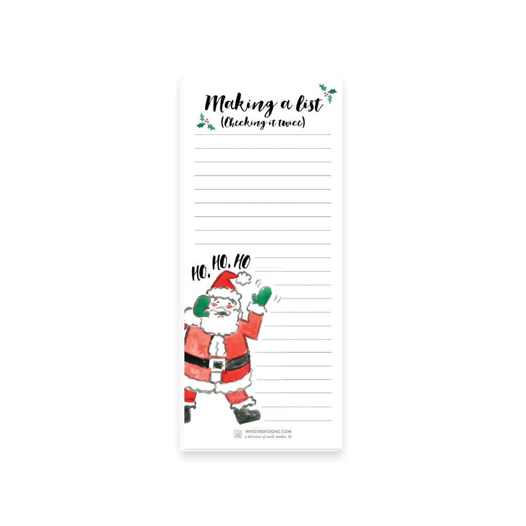 Weezie B. Designs | Happy Ho Ho Ho to You Notepad