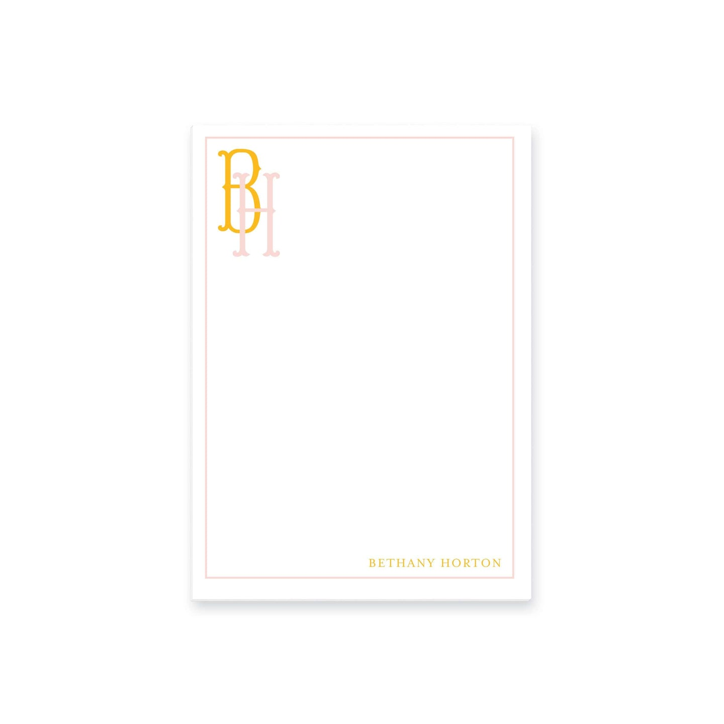 Weezie B. Designs | Two Letter Fishtail Monogram Notepad