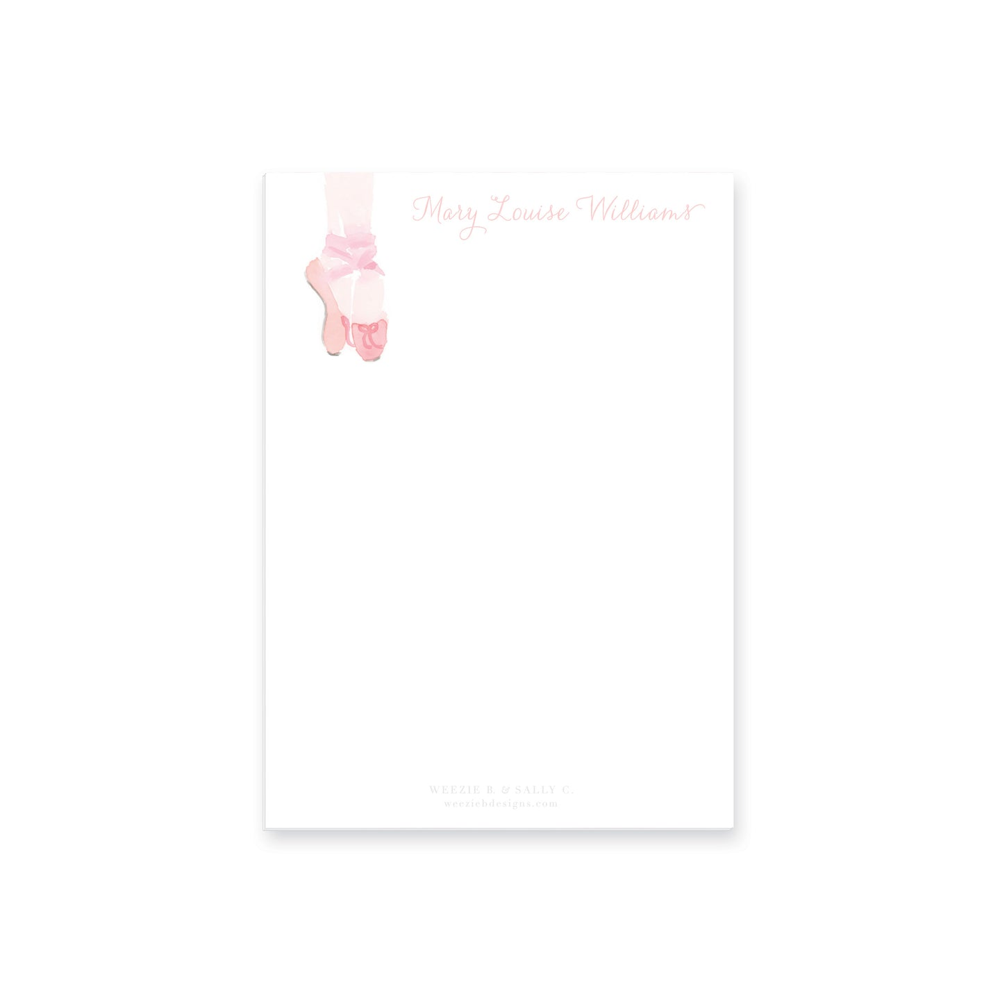 Weezie B. Designs | Watercolor Ballet Notepad