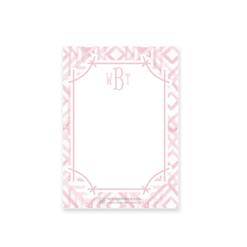 Weezie B. Designs | Watercolor Bamboo Notepad