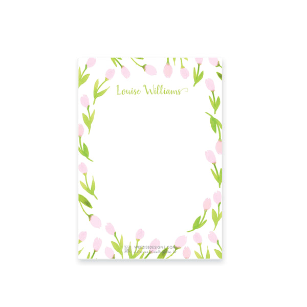 Weezie B. Designs | Garden of Tulips Notepad
