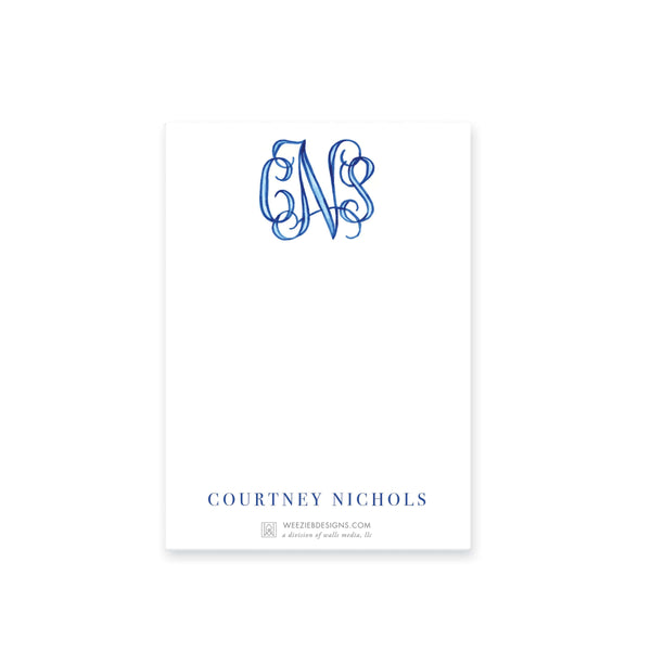 Weezie B. Designs | Watercolor Nam or Monogram Notepads