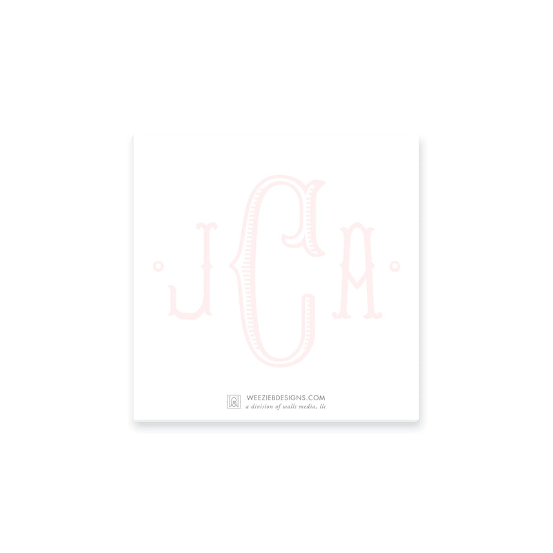 Weezie B. Designs | Center Highlight Fishtail Monogram Notepad