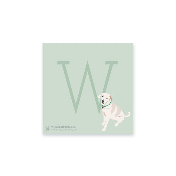 Weezie B. Designs | White Lab Notepads