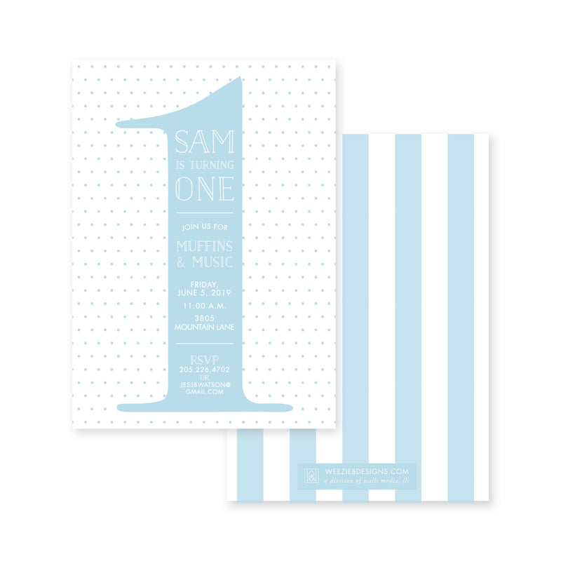 Weezie B. Designs | Kids Birthday Invitation | The Big One