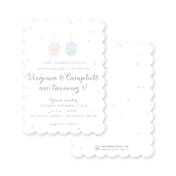 Weezie B. Designs | Kids Birthday Invitation | Little Cupcake
