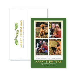 Weezie B. Designs | Modern Chic Holiday Pine Christmas Card