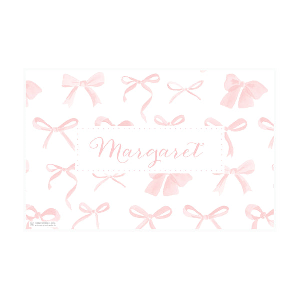 Sweet Watercolor Bows Placemat