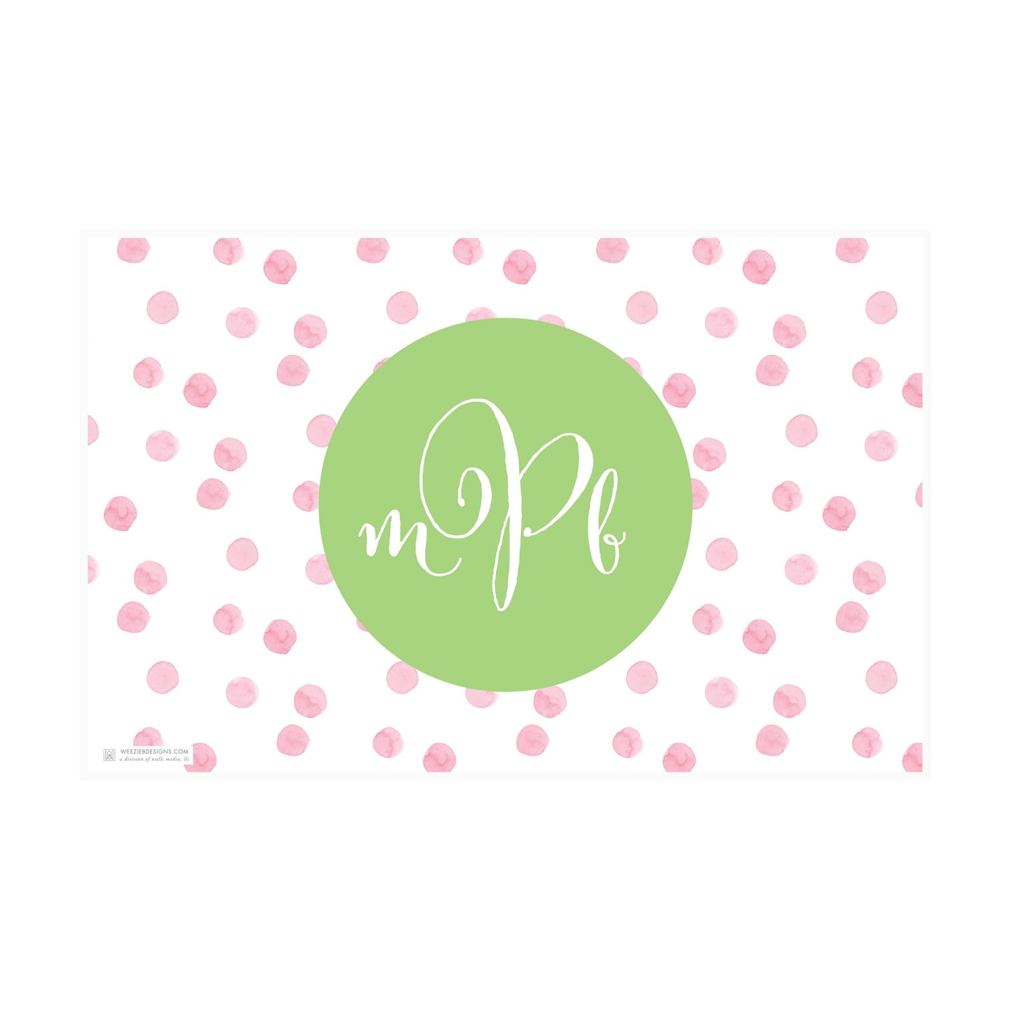 Watercolor Polkadots Placemat