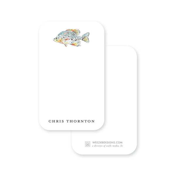 Watercolor Fish Pocket Note
