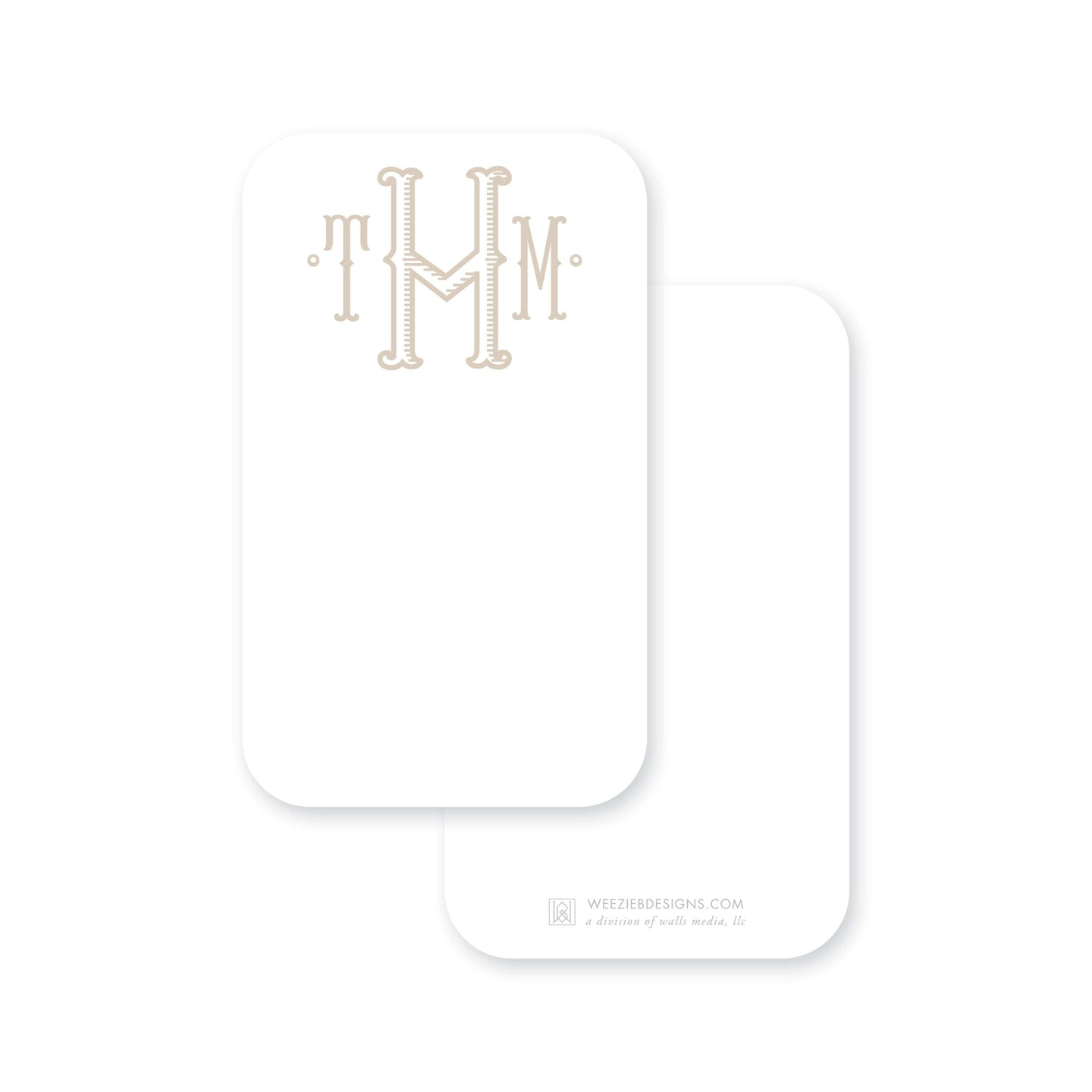 Weezie B. Designs | Fishtail Center Stripes Pocket Note Cards