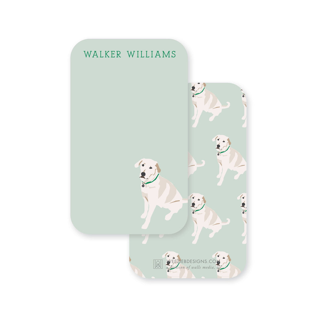 Weezie B. Designs | White Lab Pocket Note Cards