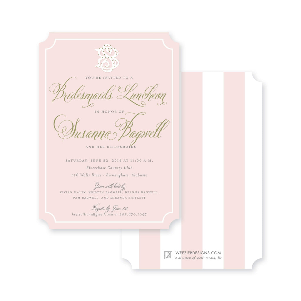 Weezie B. Designs | Posh & Pink Bridal Shower Invitation